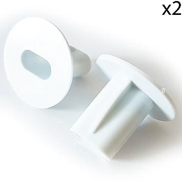 2 x 8 mm weiß Twin/Double Shotgun Kabel Eintrag Tüllen Büsche/– Feed ...