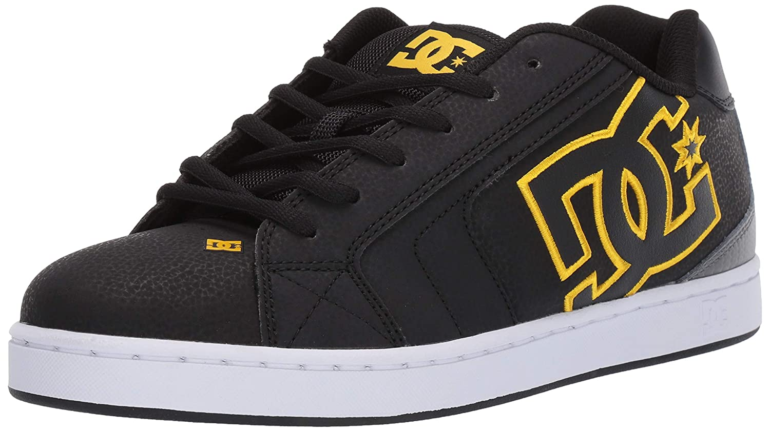 Noir Or DC chaussures Net chaussures, Chaussures basses homme