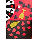 MOWO Casino Confetti Table Decoration and Las Vegas Theme Party Decoration