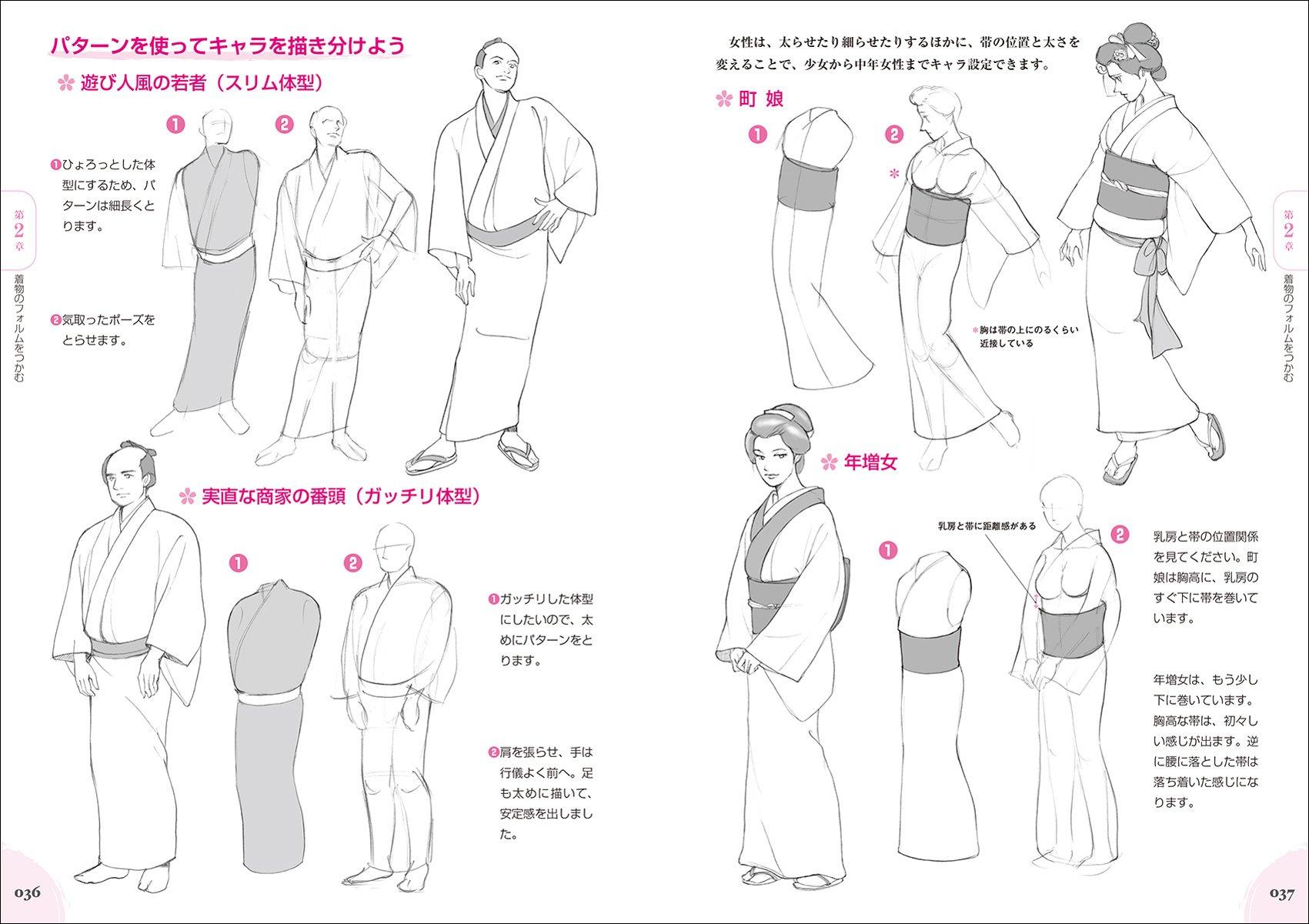 完全解説 和装キャラクターの描き方 着物の構造から基本の