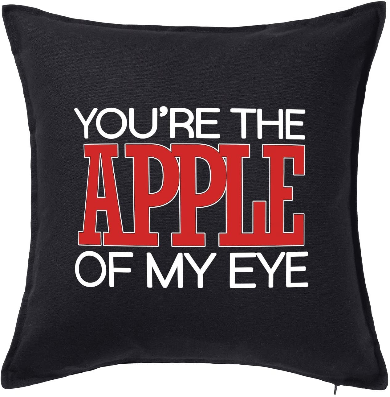 HARD EDGE DESIGN You're The Apple of My Eye Throw Pillow with Polyester Filling
