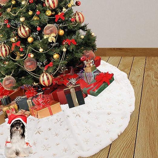 Catrne Falda de árbol de Navidad de 35 Pulgadas con Copo de Nieve ...