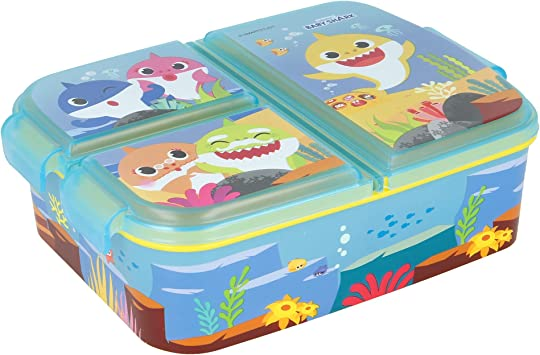 Lila-Fro Bo/îte /à go/ûter Bo/îte /à d/éjeuner d/écor/ée Sac /à d/éjeuner pour enfants CM Sandwichera avec 3 compartiments pour enfants