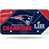 1e311072d NFL New England Patriots Super Bowl LIII Champions Metal License Plate Tag