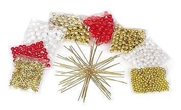 VBS 10 Perlen-Sterne Bastelset Weihnachtsdekoration Weihnachten ...