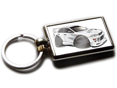 Amazon.com: Koolart Cartoon Car Subaru Impreza WRC - Llavero ...