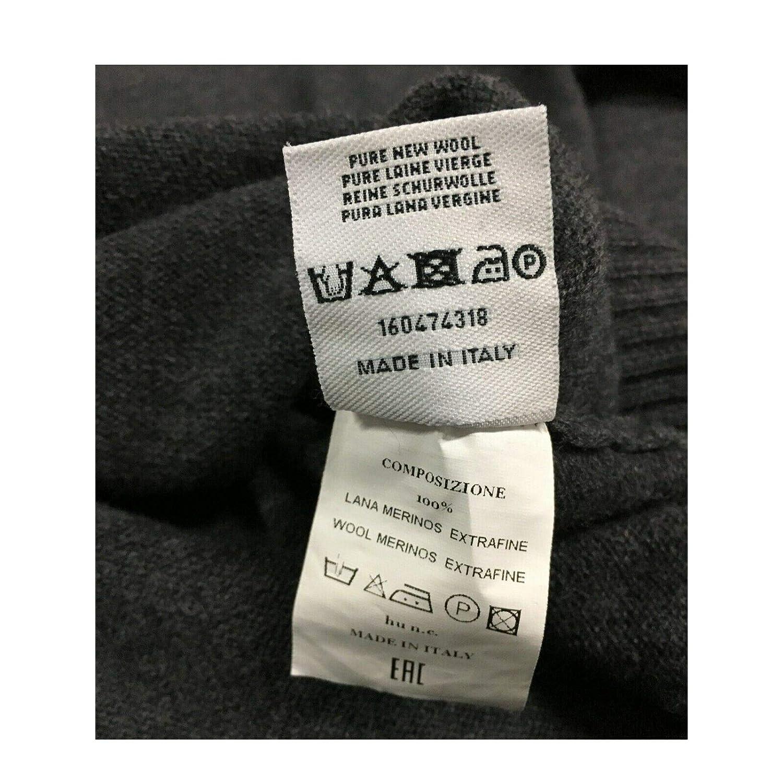 ferrante Cardigan Uomo con Zip MOD 42G3002 100/% Lana Merino Made in Italy