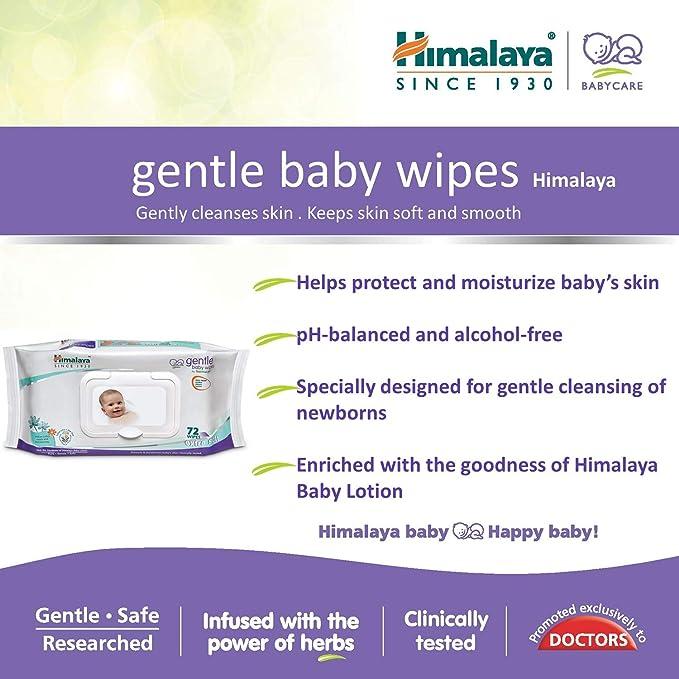 Himalaya Herbal cuidado suave bebé Toallitas 72 con Loción Desmaquilla & Hidrata: Amazon.es: Salud y cuidado personal