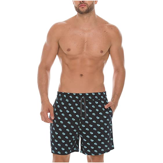Mundo Unico Men 100 Cotton Pajama Shorts Pijalla para Hombres Blue S