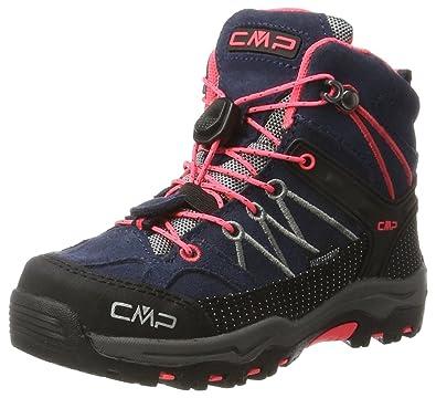 CMP Campagnolo Rigel, Chaussures de Randonnée Basses Mixte Adulte, Turquoise (Clorophilla-Red Fluo), 41 EU