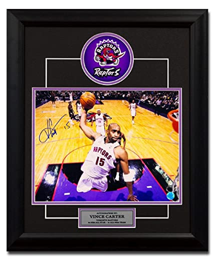 478e4043611 Signed Vince Carter Picture - Air Canada Net Cam Dunk 23x19 Frame ...