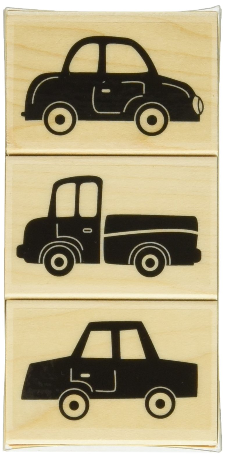Hero Arts Three Fun Cars Woodblock Stamp Set