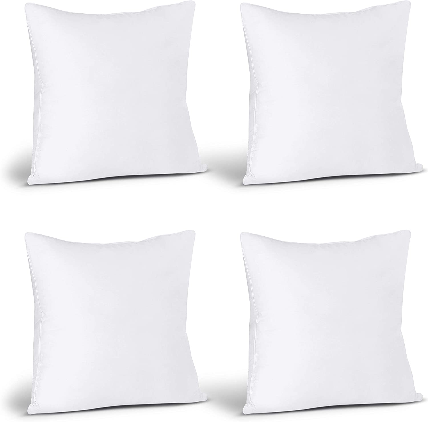 Utopia Bedding Throw Pillows Insert (Pack of 4, White) - 18 x 18 Inches Bed and Couch Pillows - Indoor Decorative Pillows: Home & Kitchen