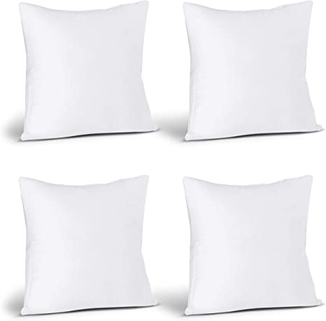 Utopia Bedding Throw Pillows Insert - 16 x 16 Inches Bed and Couch Pillows Indoor Decorative Pillows Pack of 2, White