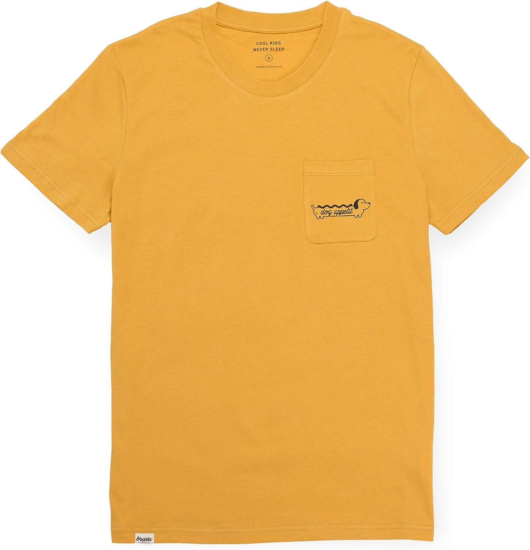 Brava Fabrics | Camiseta Hombre Manga Corta | Camiseta Amarilla Hombre | Camiseta Casual | Camiseta Hipster | 100% Algodón | Modelo Dog Appetit | Talla 3XL: Amazon.es: Ropa y accesorios