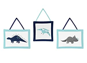 Wall Hanging Decor Accessories for Blue and Green Modern Dinosaur
