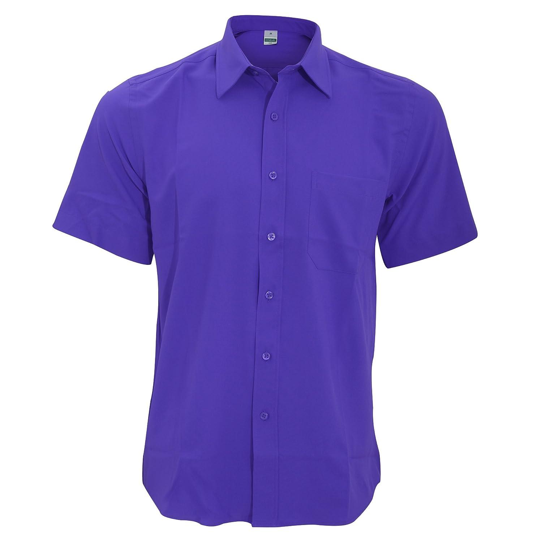 Henbury Camisa Transpirable para trabajar de manga corta accion anti-bacterial Hombre//Caballero Trabajo//Fiesta//Verano