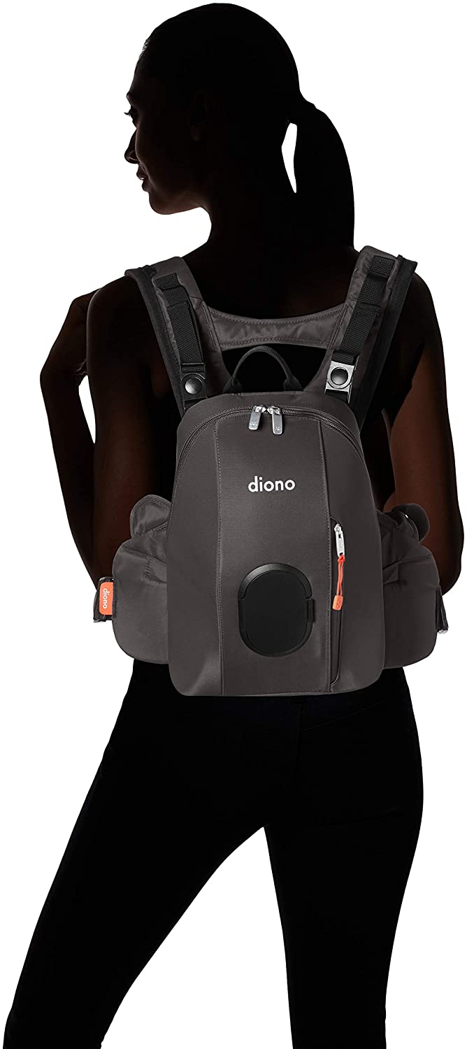 Light Gray Diono Carus Complete 4-in-1 Child and Baby Carrying System with Detachable Backpack