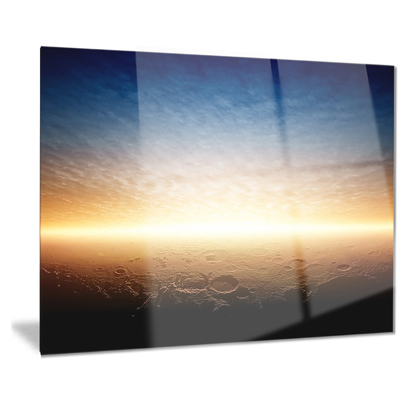 Designart Sunset On Planet Mars Modern Spacescape Metal Wall Art Mt8087 28x12 12 H X 28 W X 1 D 1p