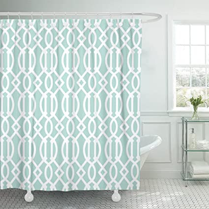 Amazon Com Accrocn Waterproof Shower Curtain Curtains Fabric Mint