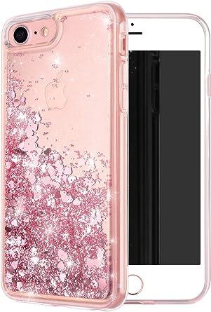 Ucolor Rose Pink Glitter Funda Para iPhone 8/7 iPhone 6s/6 F