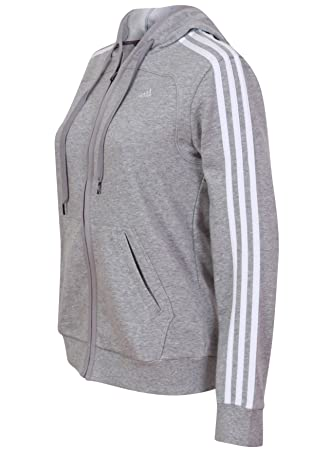 Adidas Womens Ladies Essentials Ladies 3S gris ClimaLite Adidas algodón con Womens cremallera completa a5a11fc - allergistofbrug.website
