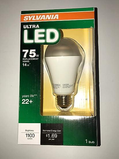 Amazon.com: SYLVANIA Ultra 13-Watt (75W Equivalent) 2700K A19 LED Soft White Indoor LED: Home & Kitchen