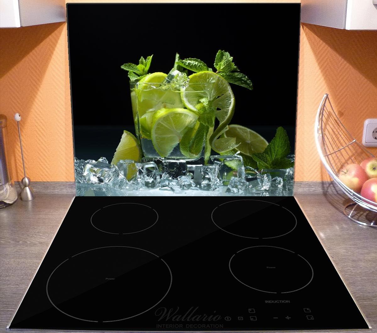 Herdabdeckplatten aus Glas Spritzschutz Minze Mörser 60x52 cm
