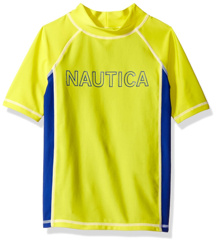 Nautica Boys' Rashguard with UPF 50+ Sun Protection Firefly/Blue Small (4) N468224Q