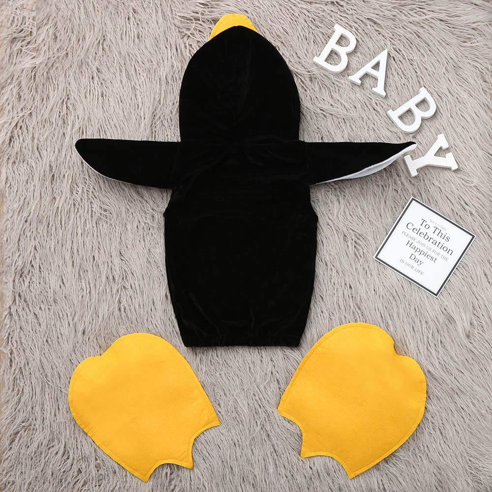 Sixpi Cartoon Penguin Baby Bunting Onesie Jacket Infant Romper Footwear Outfits Winter Outerwear Coat Costume Cosplay
