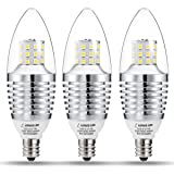 LOHAS LED Candelabra Light Bulbs 7W, 65W-70W Incandescent Bulbs Equivalent, E12 Candelabra Base, LED Daylight 6000K, 120V, 680 Lumen LED Lights for Home (3 Pack)