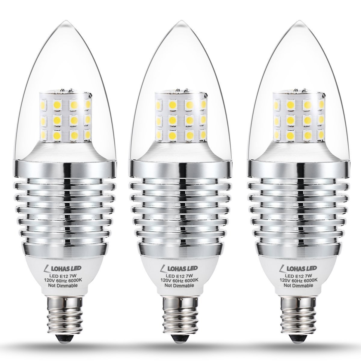 Lohas candelabra led bulb e12 base 65 watt 75 watt halogen bulb lohas candelabra led bulb e12 base 65 watt 75 watt halogen bulb equivalent led 7w candelabra base bulbs daylight 6000k 680 lumens non dimmable aloadofball Choice Image