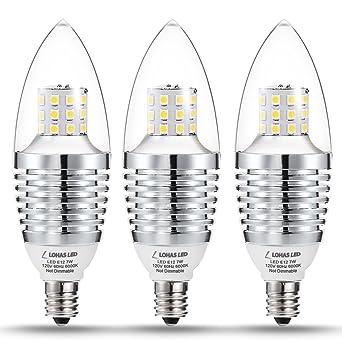 lohas led candelabra light bulbs 7w 65w70w bulbs equivalent e12 candelabra
