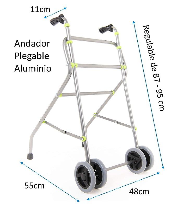 OrtoPrime Andador para Ancianos Plegable - Caminador de Aluminio ...