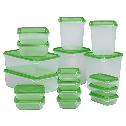 Ikea Pruta Contenitore Per Alimenti Verde 0 Cm 17 Unità Amazon