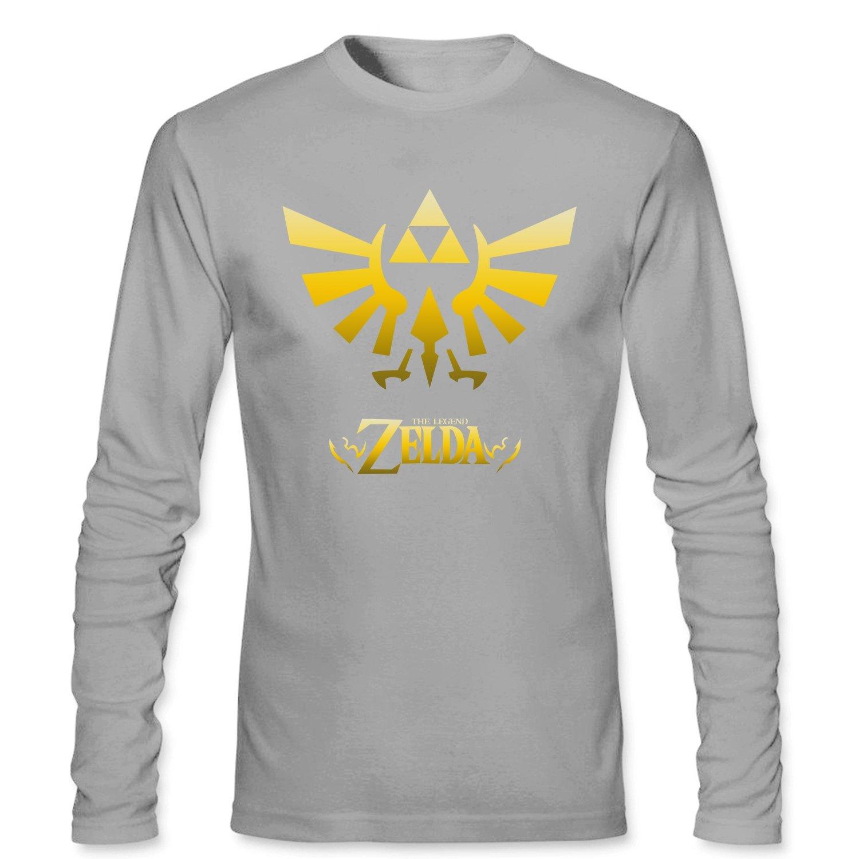 e1a231648 Amazon.com: TOTOT Men's The Legend Of Zelda Triumphant Triforce Game Long  Sleeve Cotton T Shirt light grey M: Books