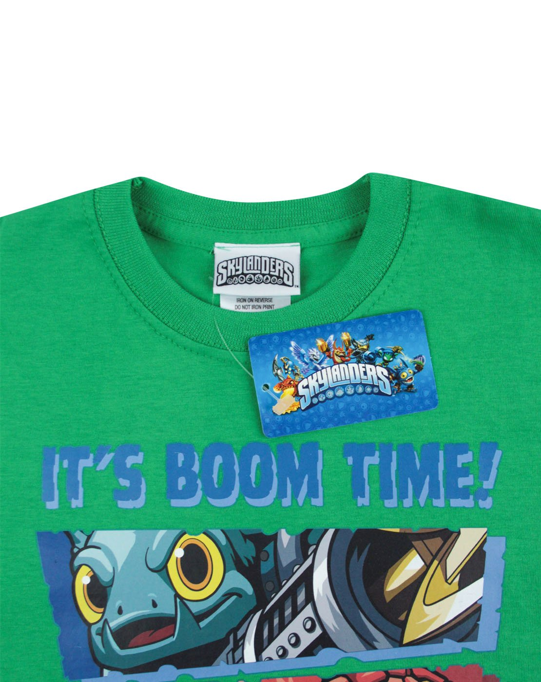 Skylanders Boys Pop Fizz Split Face Mock Layer Tee
