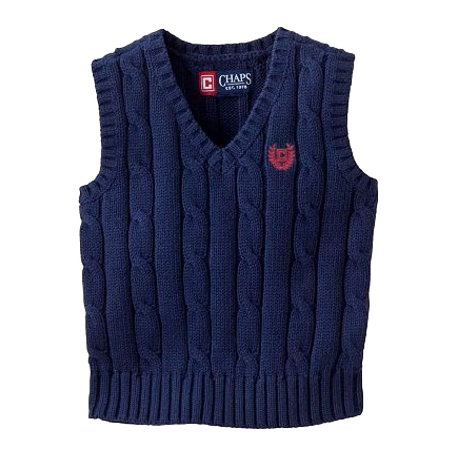 Chaps Cable-Knit V-Neck Sweater Vest for Boys