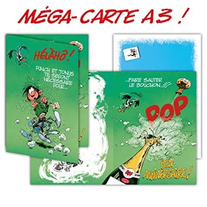 Gaston Lagaffe glmg-5002 tarjeta de cumpleaños gigante Maxi ...