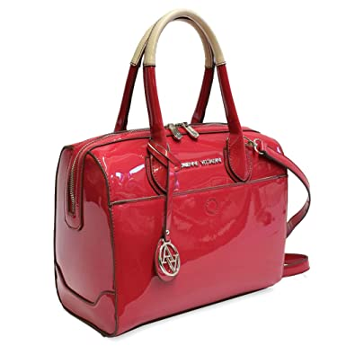 8ef1d33ee0b6 Adrienne Vittadini The Ella Collection Patent Handbags Satchels Barrel Bags  Great for Dates Dinners   Everyday