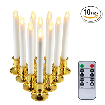 niceEshop(TM) Window Candles, 10PCS Led Electric Candle Lights with  Holders, Electric - Amazon.com: NiceEshop(TM) Window Candles, 10PCS Led Electric Candle