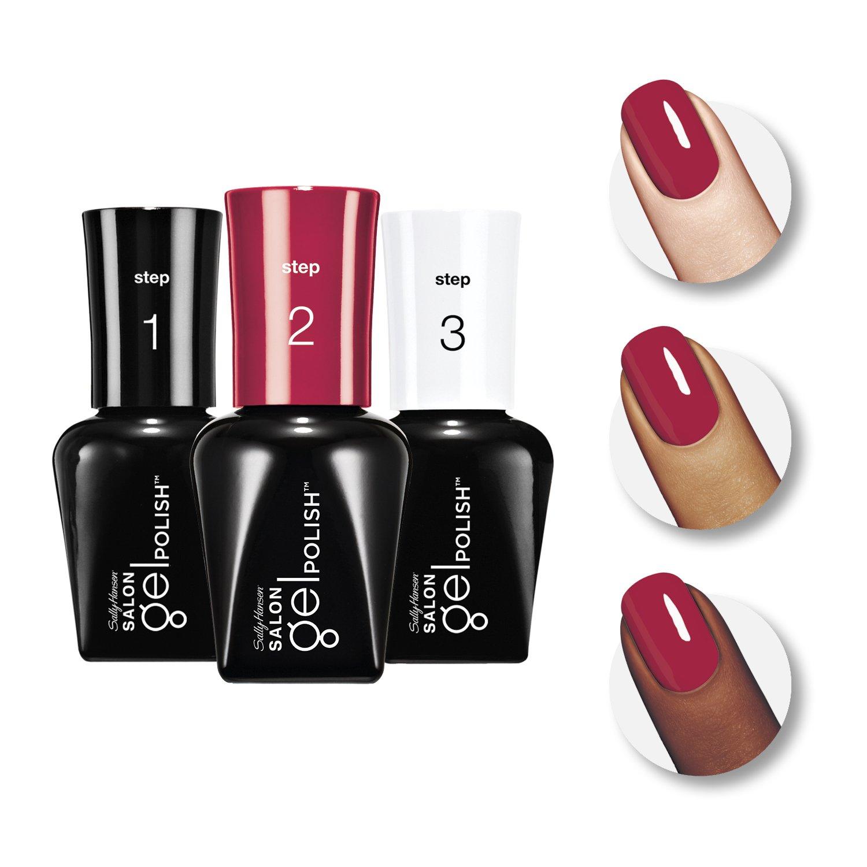 Amazon.com : Sally Hansen Salon Pro Gel Starter Kit, Red My Lips ...