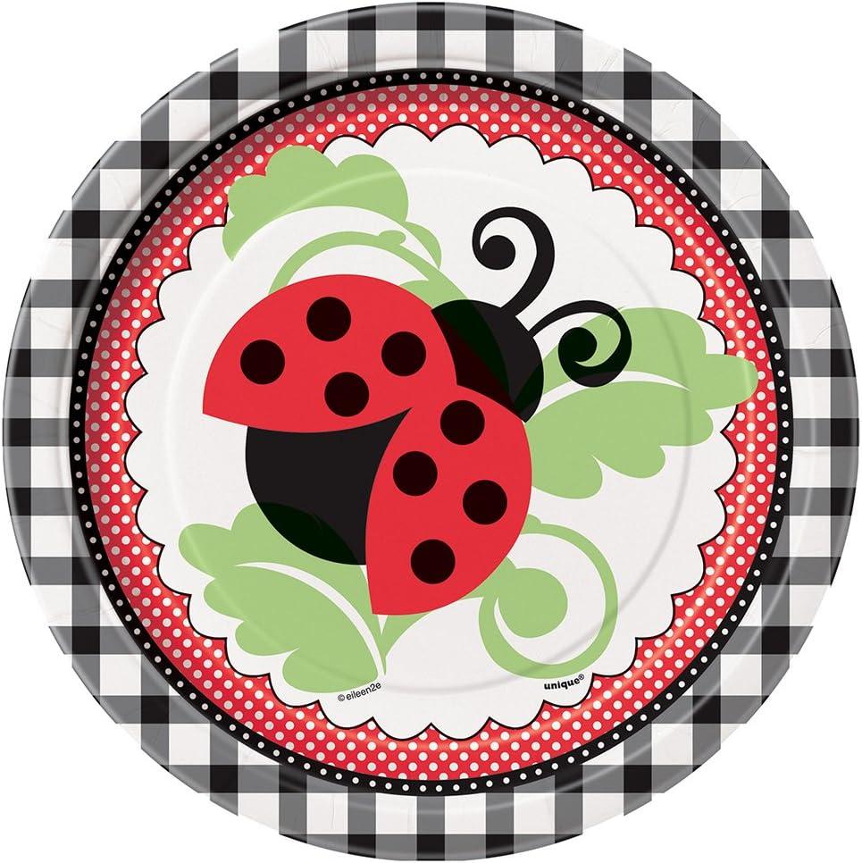 Amazon.com: Ladybug Party Mantel de plástico, 84
