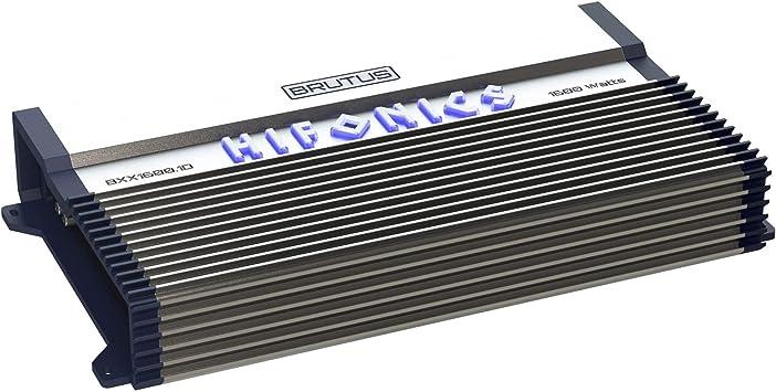 Hifonics BXX1600.1D 1600W Brutus Class D Mono Car Audio Amplifiers w// Bass Knob