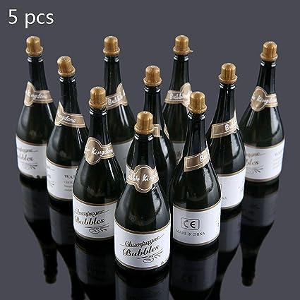 Vacío burbujas jabón botellas de champán boda Navidad fiesta de cumpleaños Decoración, 40Pcs