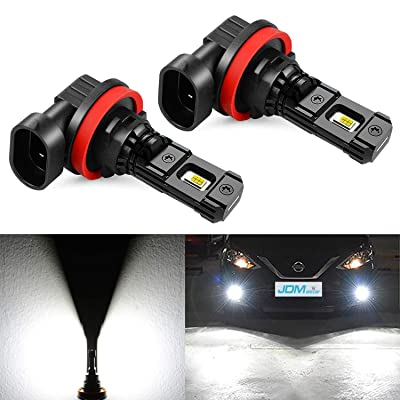 JDM ASTAR High Performance Bright White 1:1 Design H11 H8 H16 LED Fog Light Bulbs: Automotive