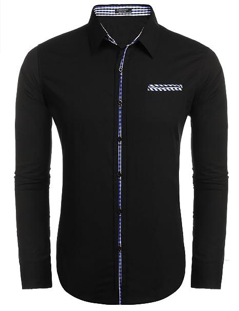 Amazon.com: COOFANDY Camisa de vestir floral para hombre ...