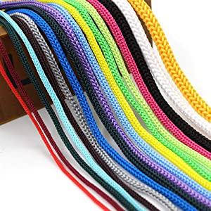 Polypropylene Rope 1/10,1/8,1/6,1/5 Inch Drawstring Hollow Braided Rope PP Rope,Barrier Rope String,Polypro Rope, Golf Courses,Trail Marking,Ski Slopes,Outdoor Concerts,Multicolor,328feet(100m)