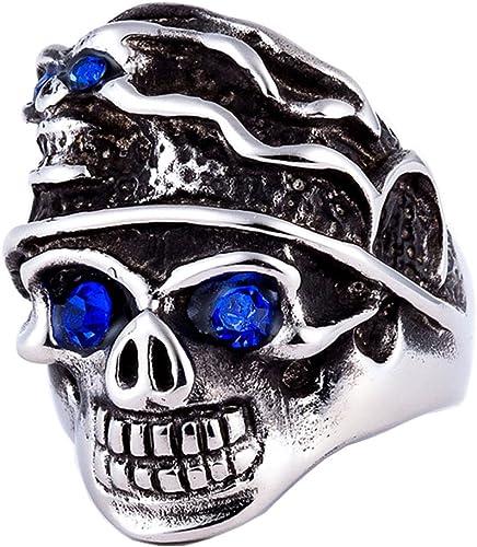 Ring Cowboy Skull Punk Motorcycle Punk Stainless Steel 316l Biker for Men 7-13