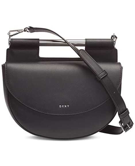 DKNY Ursa Genuine Leather Crossbody Saddle Bag Purse: Amazon ...